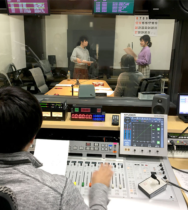 RCCラジオドラマ収録S